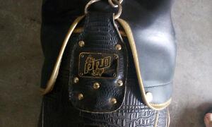 Leather golf bag