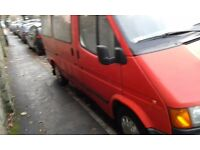 FORD TRANSIT LEFT HAND DRIVE 2.5 diesel LHD 9 SEATER 1993