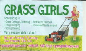 Grass Girls: Spring  clean-up, lawn cut and trimmed from $30