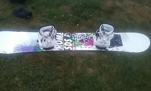 Womens snowboarding complete setup