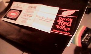 1985-86 Detroit Red Wings Schedule ticket\seat ordering panflet