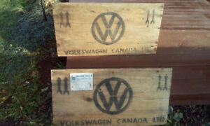 Volkswagen shipping crate pieces