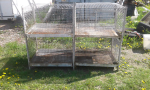 4 large rabbit breeding cages
