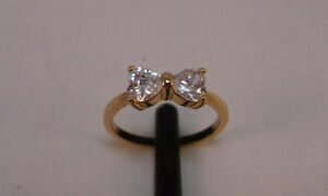 10K Gold Filled Bow Tie Ring - sz 6 or 7