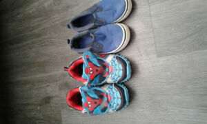 2 pair of fairly new toddler shoes.