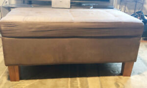 Faux suede bench for storage/seating