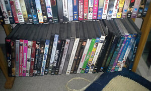 DVD lot with DVD rack