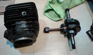 Husqvarna 60mm piston, cylinder and crank