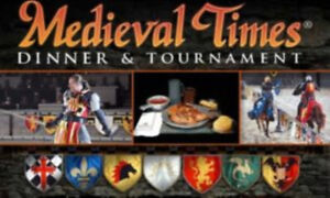 6 x Medieval Times Dinner & Tournament Tickets