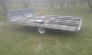 **8.5x12 Aluminum double snowmobile trailer $1950 **