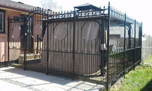 Decorative iron fence for sale
