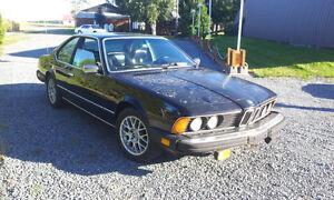BMW 635CSI E24 86 MANUELLE NOIRE