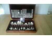 Silver plated canteen cutlery