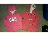 Girls Gap winter hoody 18/24mth and Mothercare winter coat 9/12mths