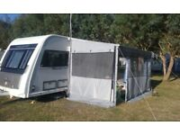 Fiamma Caravanstore Deluxe Grey 360 Canopy and CS Light Privacy Room
