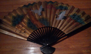 Large Japanese Paper Wall Fan