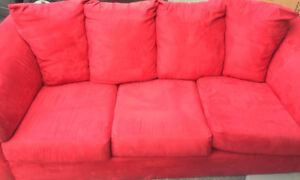 excellent condition microfibre couch, $80 or best offer