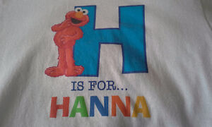Hanna shirt with Elmo