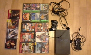 Playstation 2 console and PS 1 and 2 and 3 games