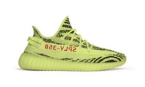 YEEZY BOOST V2 SEMI FROZEN YELLOW SIZE 6 **AUTHENTIC W RECEIPT**