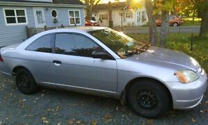 2002 Honda Civic grey Coupe (2 door)