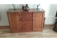 Heavy pine sideboard in good condition