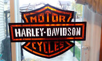 vitrail stained-glass HD Harley Davidson collector vintage