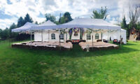 Outdoor tent rentals, chairs and tables