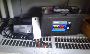EverStart Marine/RV Battery with smart charger