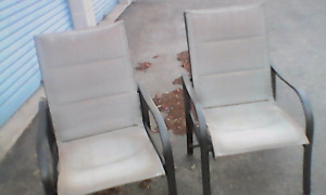 3 year old Aluminum with tan seat an rest material fair conditio