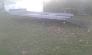 ** 8.5x20 4-place Snowmobile Trailer w ramp $2400 obo road ready
