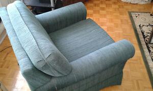 Big Dark Green Fabric Chair