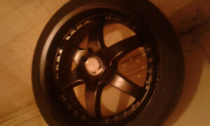 "17"" aftermarket   rims and tires"