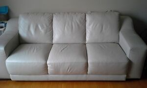 Leather Sofa and Love Seat - Cream color