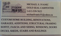 Gold Seal Carpenter with 40 years Experience