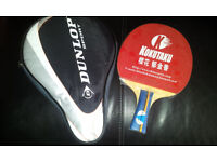 TABLE TENNIS PEN HOLD BAT & COVER - USED