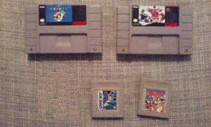 Jeux Super Nintendo Snes et Game Boy