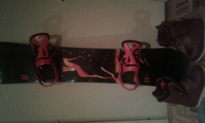 Full snowboard set
