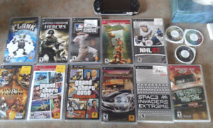 PSP AND 14 GAMES