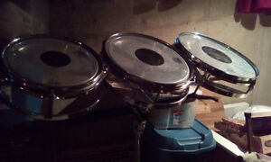 Set of Remo Roto Toms with stand