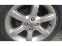 SET OF 4 MG ALLOYS WITH GREAT TYRES 205 55 15