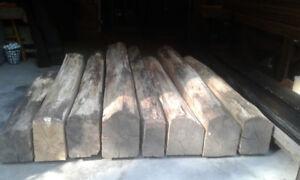 Rough cut Oak Beams
