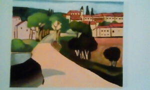 'French Village' Painting