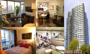 Yaletown Luxury Furnished 1 Bedroom, Parking, Storage -  Nov 1