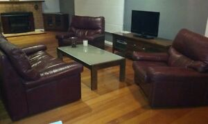 Leather Lounge Dark Brown Woodend Macedon Ranges Preview