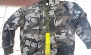 camo The North Face winter jacket