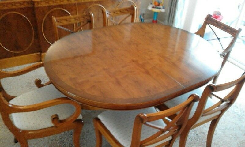 REDUCED Charles Barr dining table and chairs