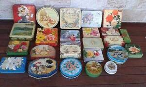 43 assorted vintage tins Arnotts tea biscuits chocolates toffees Brighton Brisbane North East Preview