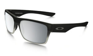 NEW Oakley OO9189-28 55 Two Face Machinist Black/Grey Sunglasses