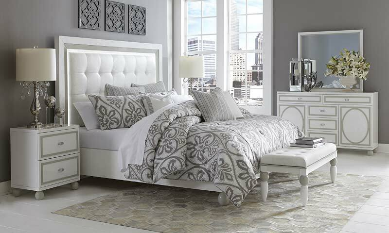 AICO Furniture - Sky Tower 6 Piece California King Platform Bedroom Set - 902...